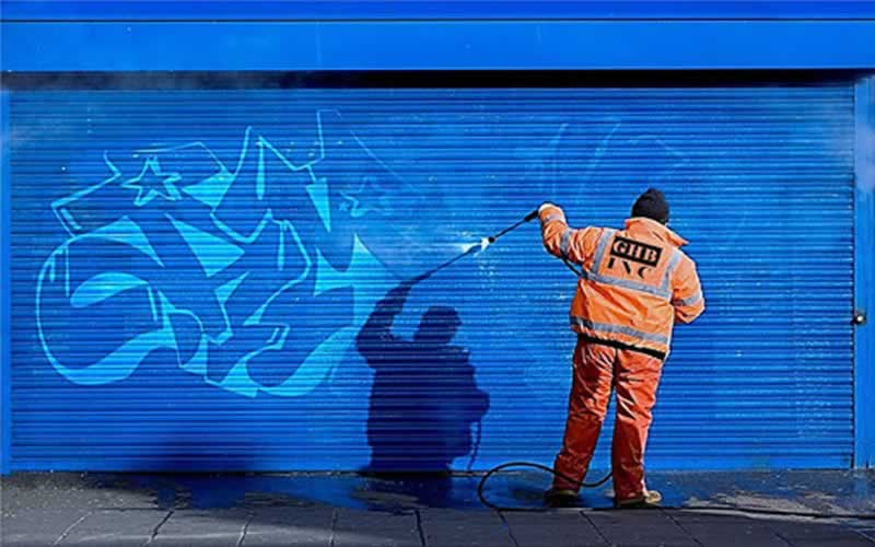 What solvents are used to remove graffiti