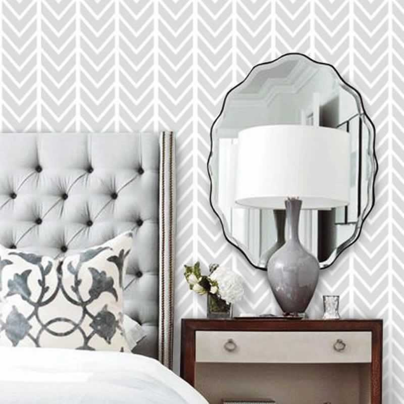 3 Ways To Use Herringbone Patterns In Your Home - wallpaper
