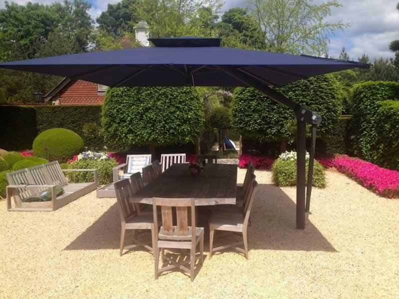 How can offset umbrellas make your patio look better - umbrella