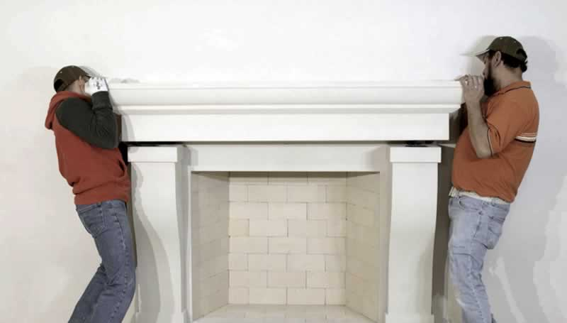 How To Remove A Fireplace Mantel - stone mantel