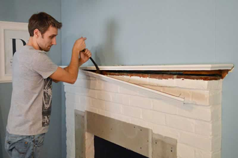 How To Remove A Fireplace Mantel