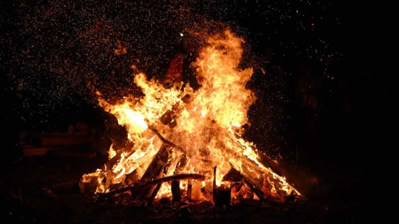 Making A Bonfire In Australia