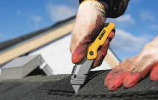 Utility Knife - cutting shingles