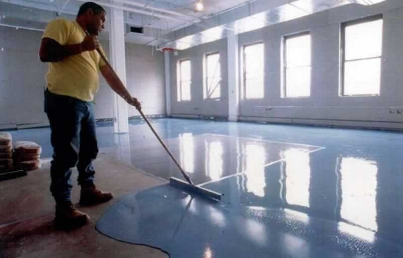 What Types of Paint to Use For Industrial Flooring - applying epoxy