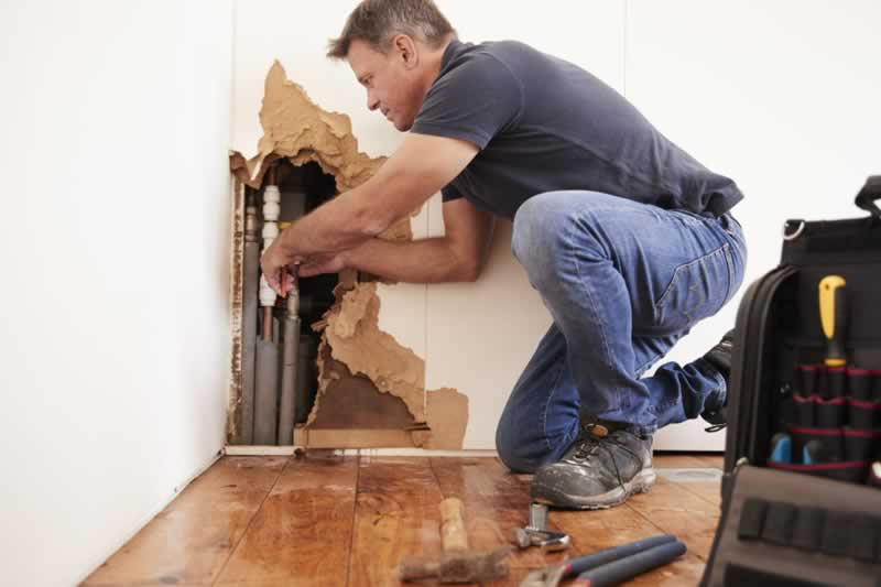 What to Do When You Find Water Damage - repairing
