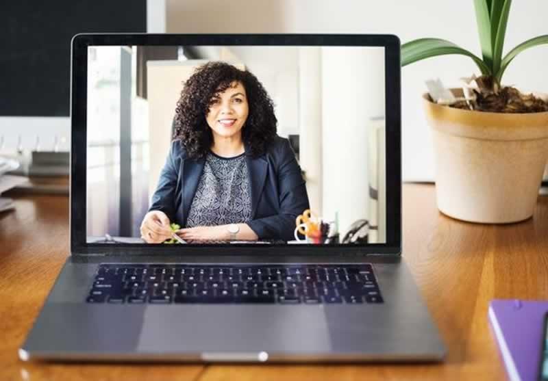 8 Common Remote Job Interview Questions - laptop