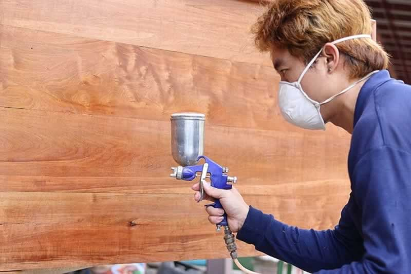 How to use an HVLP sprayer gun for woodworking