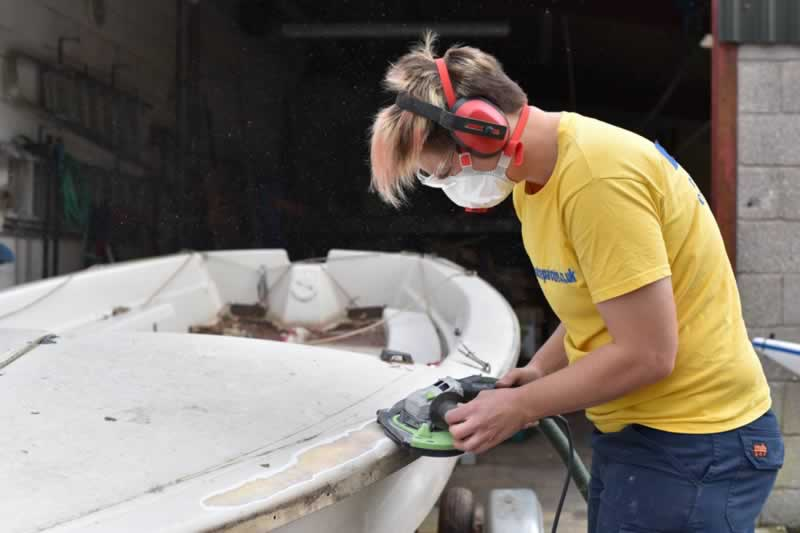3 Common Boat Repairs That You Can Do Yourself - sanding