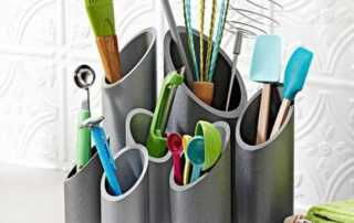 5 Creative Uses for PVC Pipe in the Kitchen - utensils holder