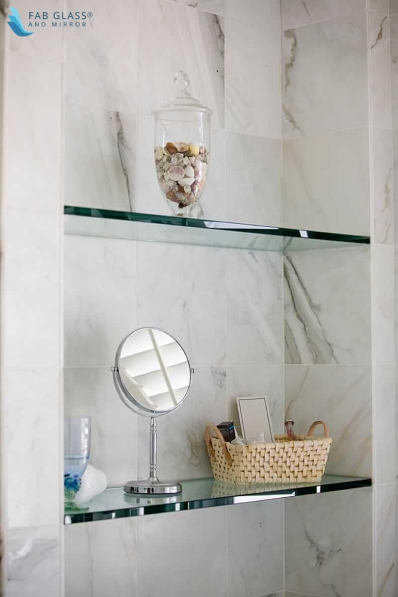 DIY Crafts to Install Glass Shelves for Glamorous Home Décor - corner shelves