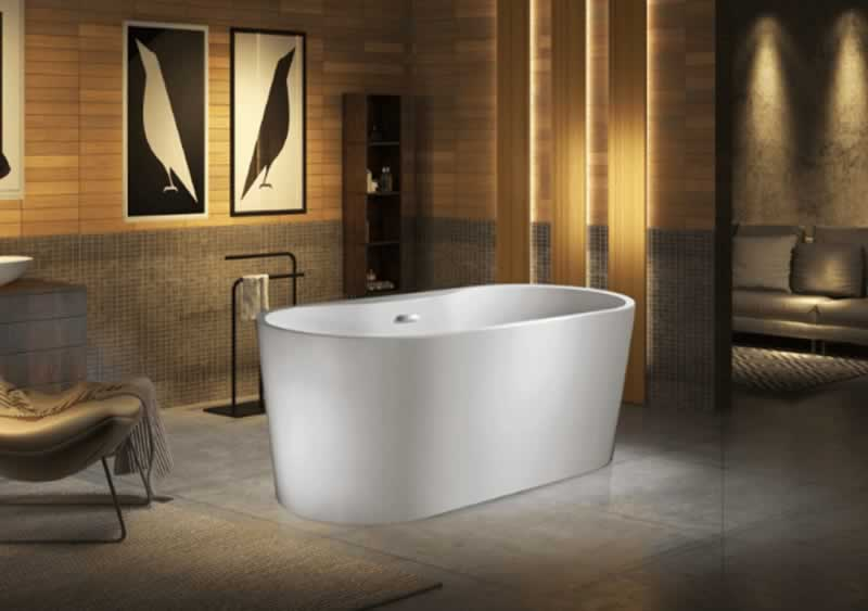 How to Install a Freestanding Air Tub on the Concrete Slab - tub