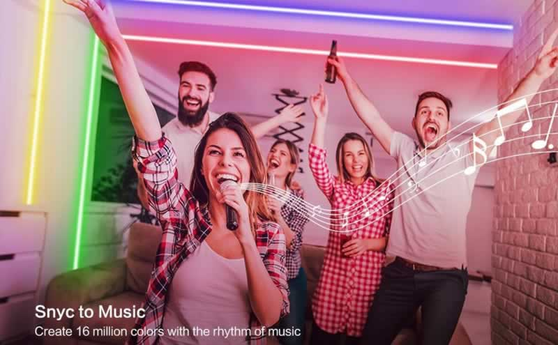 How to design trendy room lighting - sync to music