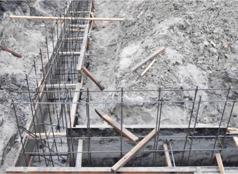 What are the components of formwork - foundation