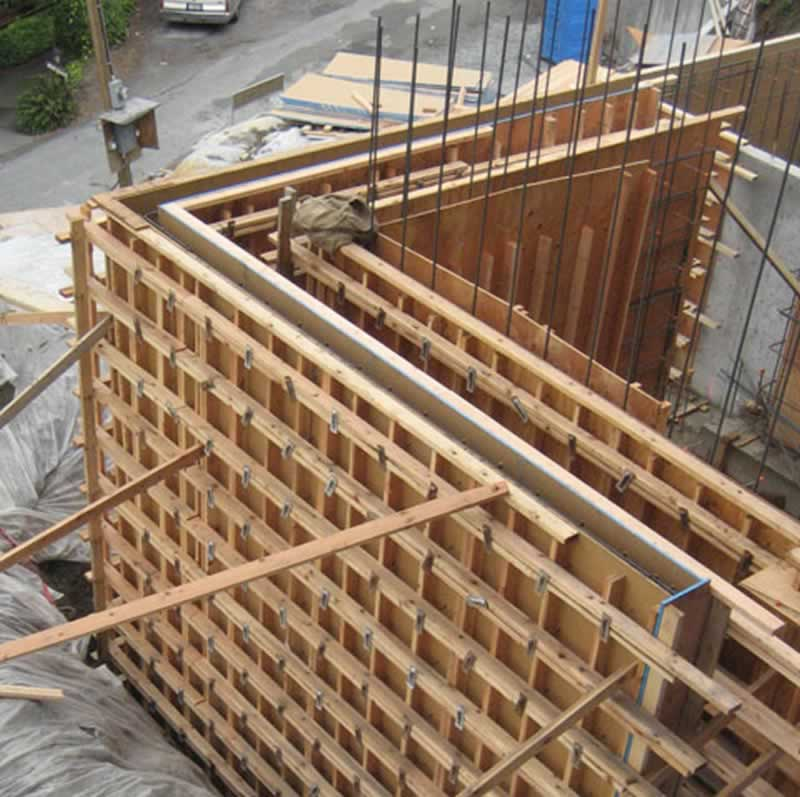 What are the materials used for formwork - formwork