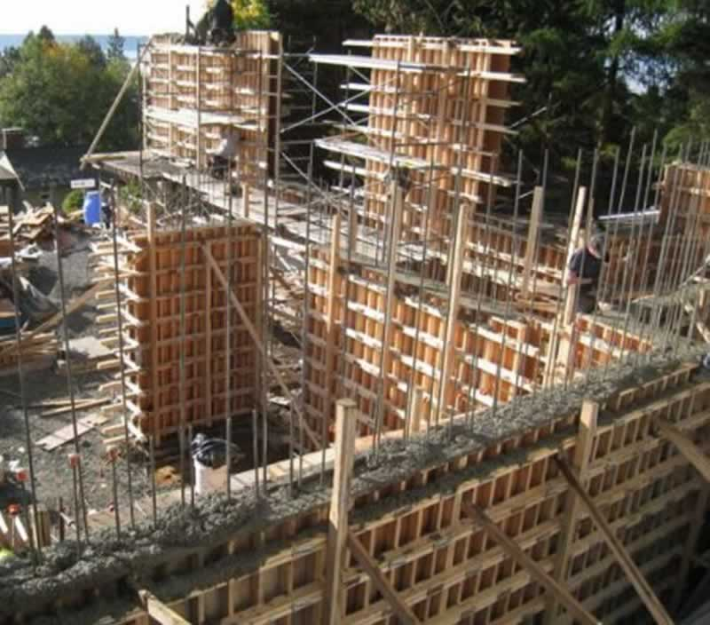What are the materials used for formwork