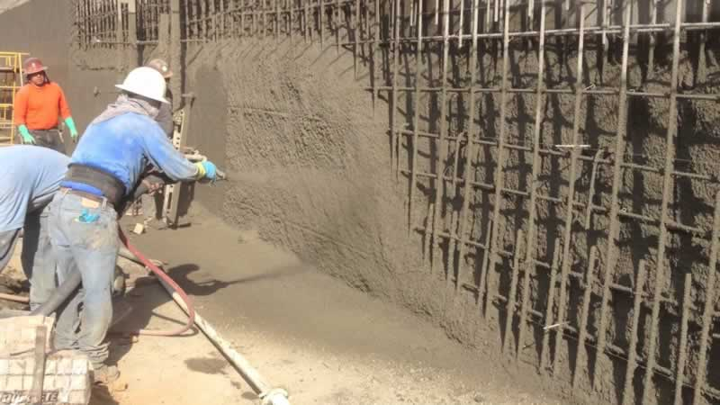What is shotcrete and its types