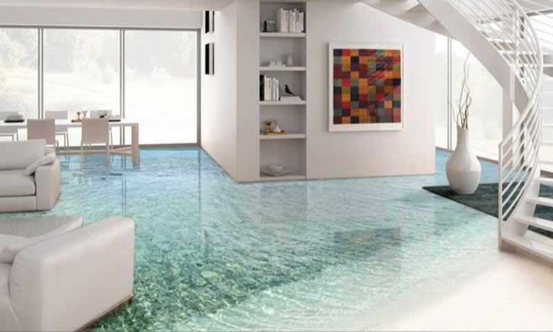 Epoxy Flooring - living room