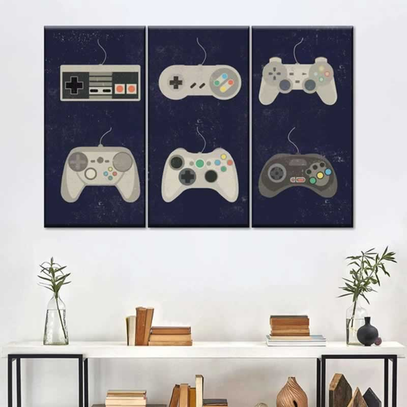 GAME ROOM INSPIRED WALL ARTS - controllers