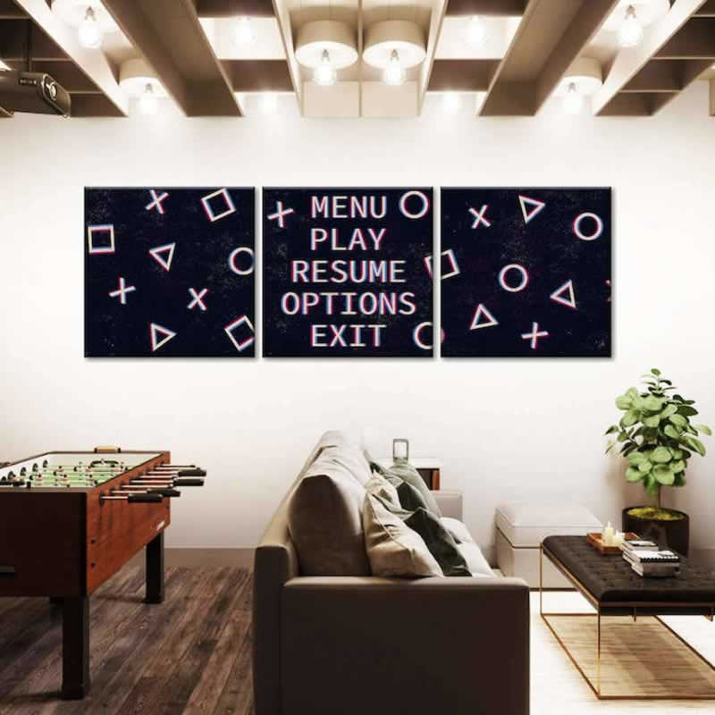 GAME ROOM INSPIRED WALL ARTS