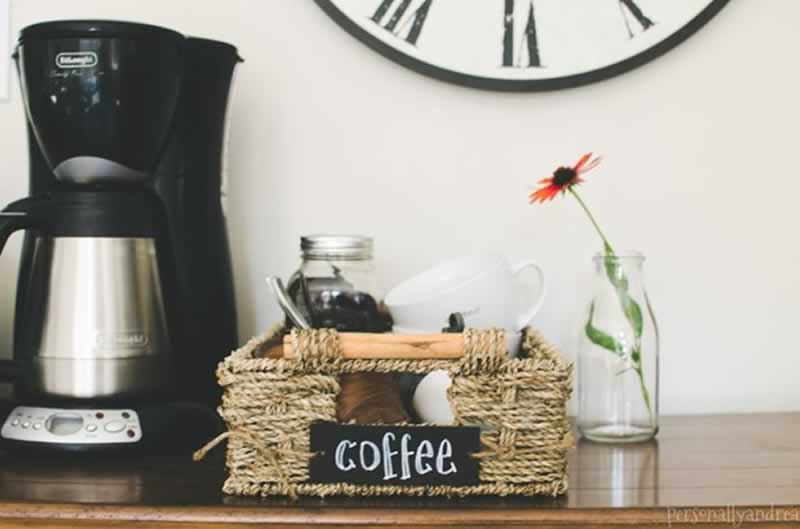 6 Simple Steps To Build Your Own Home Coffee Station - coffee station