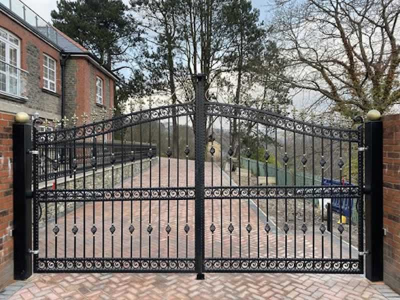 Elegant and Stylish Wrought Iron Gates Adds Security for Your Home