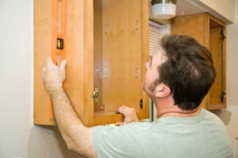 Everything You Need to Know for Replacing Kitchen Doors - leveling