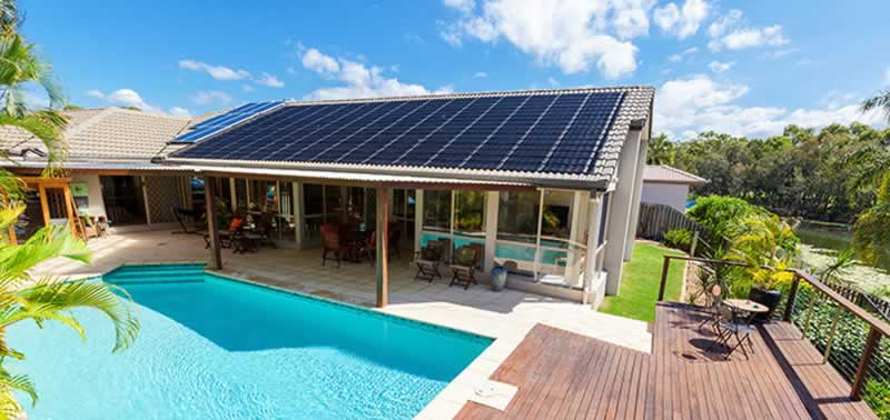 Main Benefits Of Using Solar Power At Home - pool