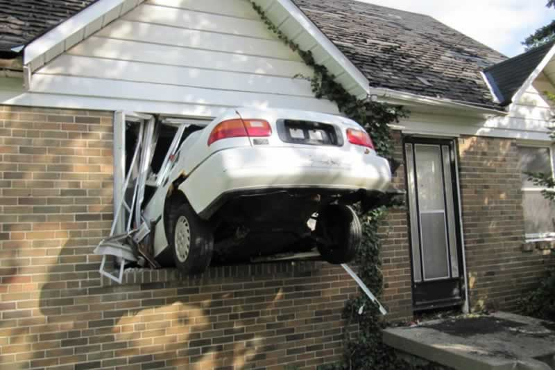 How Do I Sue Someone For Property Damage - car in the house