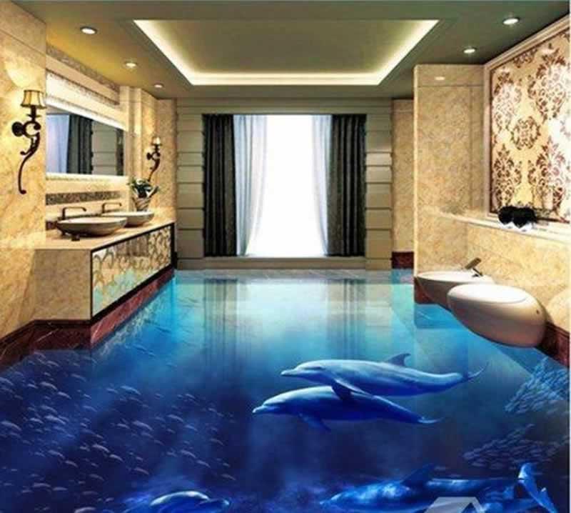 How Epoxy Floor Coatings Work - bathroom