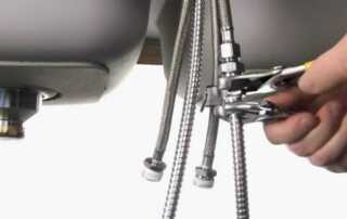How To Install A Kitchen Faucet - hoses